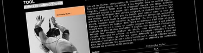 Tool : Reflets et métamorphoses, première bio française
