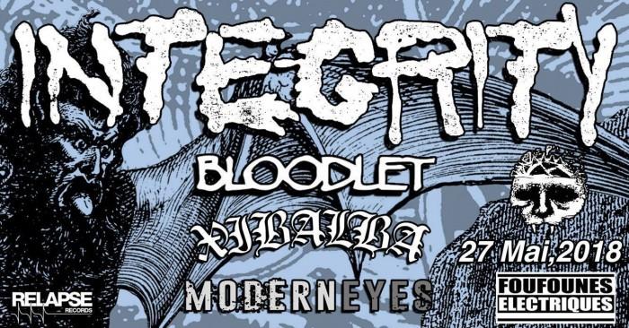 Integrity + Bloodlet + Xibalba + Modern Eyes, Les Foufounes Électriques, Montréal